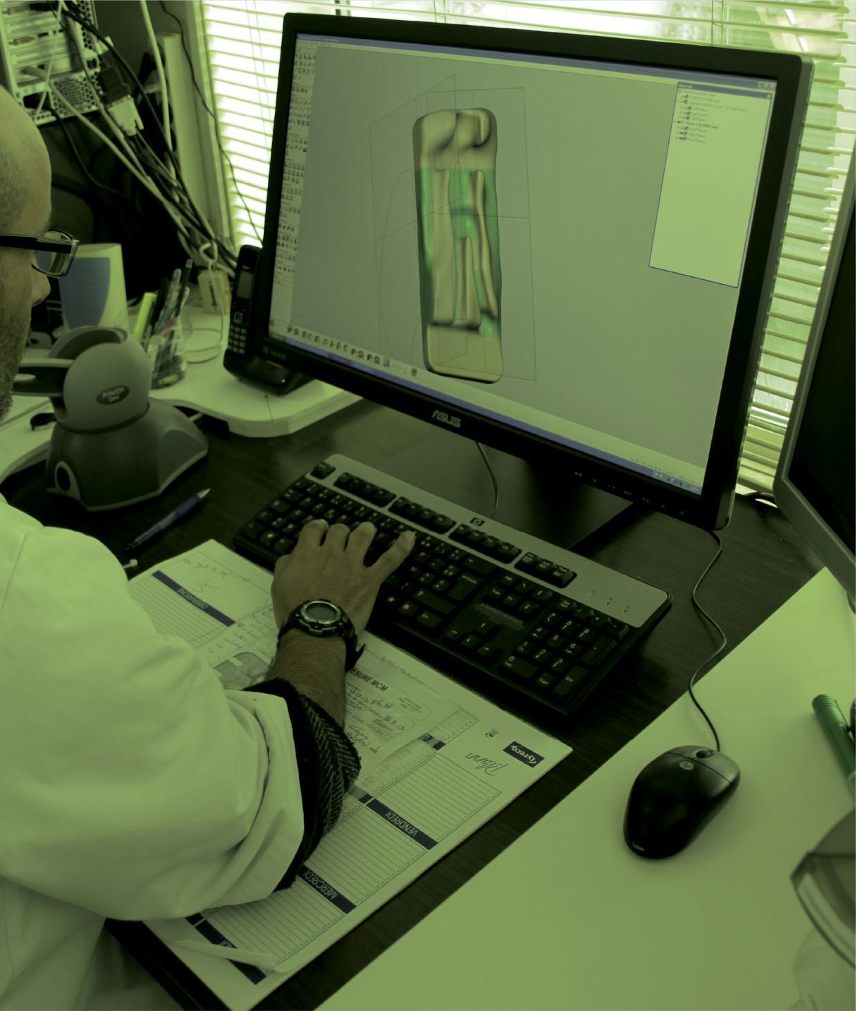 orthèse, modélisation 3D, haute technologie, logiciel spécialisé, sur mesure
