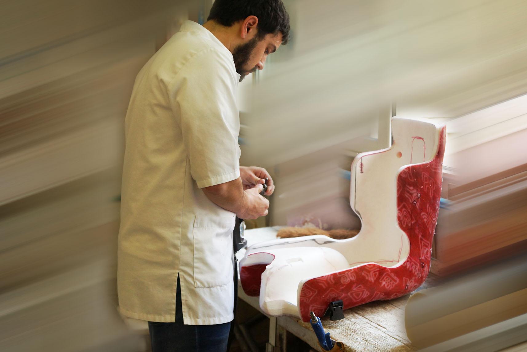 siège coque fabriqué par Mathis Orthopédie